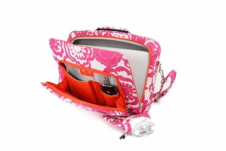 MicraBe Laptop Bag in Fuchsia Blossoms