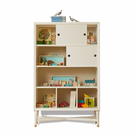 Mid-Century Bookcase in French White