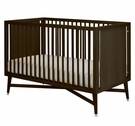Mid-Century Convertible Crib in Espresso