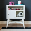 Mid-Century Nightstand in French White