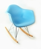 Mid Century Rocking Chair in Blue