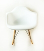 Mid Century Rocking Chair in White