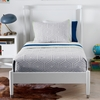 Mid-Century Twin Bed in French White