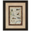 Midwest States Map Framed Art