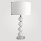 Milan Medium White Crystal Table Lamp