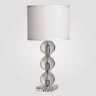 Milan Small Clear Crystal Table Lamp