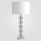 Milan Tall Clear Crystal Table Lamp
