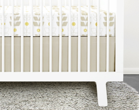 Miller 2-Piece Crib Bedding Set with Stone Skirt