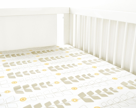 Miller 2-Piece Crib Bedding Set with Yellow Skirt