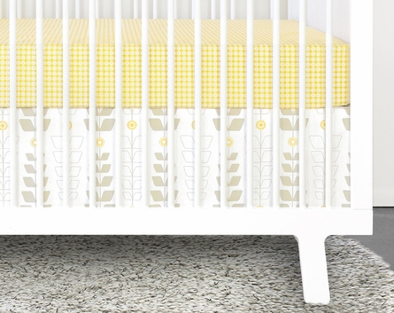 Miller 3-Piece Crib Bedding Set with Patterned Skirt