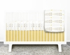 Miller 3-Piece Crib Bedding Set with Yellow Skirt
