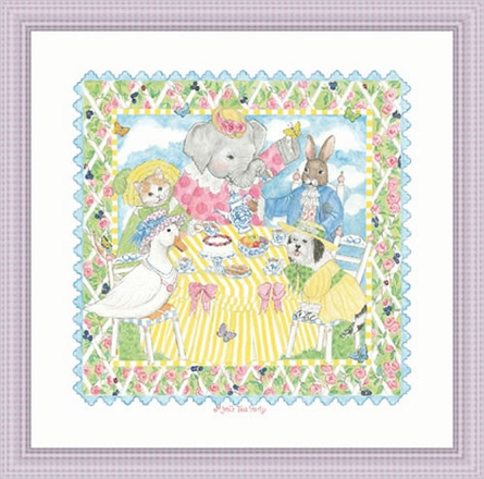 Mimi's Tea Party Framed Lithograph