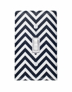 Mini Black and White Chevron Light Switch Plate Cover