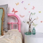 Mini Butterflies Girly Fabric Wall Decals