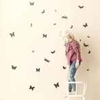 Mini Butterflies Wall Stickers - Black