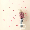 Mini Butterflies Wall Stickers - Neon Pink