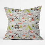 Mini Camper Throw Pillow