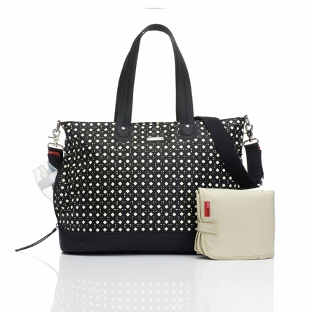 Mini Diamonds Tote Diaper Bag in Black
