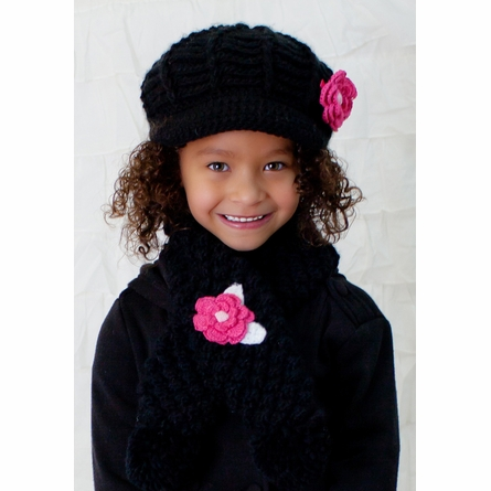 Mini Diva Hat in Black