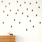 Mini Drops Wall Stickers - Black