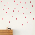 Mini Drops Wall Stickers - Neon Pink