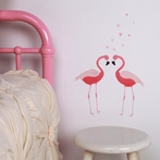 Mini Flamingos Fabric Wall Decals