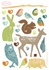 Mini Forest Critters Earthy Fabric Wall Decals