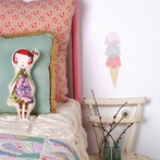 Mini Ice Cream Fabric Wall Decals