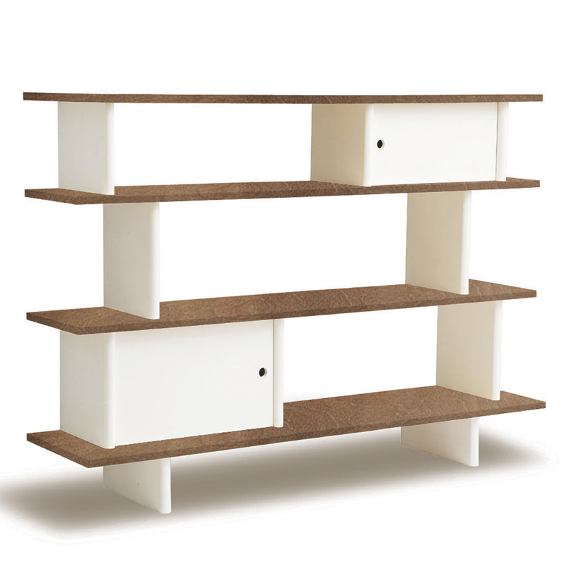 Mini Library Book Shelf In Walnut And White By Oeuf