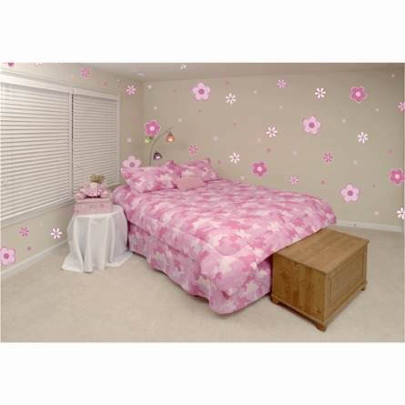 Mini Pink Flowers Wall Stickers