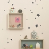 Mini Stars Wall Stickers - Black
