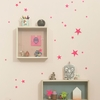 Mini Stars Wall Stickers - Neon Pink