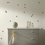 Mini Triangle Wall Stickers - Black