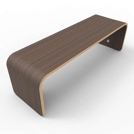 Minimal Bench in Walnut