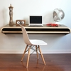 Minimal Float Wall Desk in Walnut