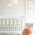 Mint Chevron Flat Panel Crib Skirt