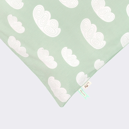 Mint Clouds Kids Twin Duvet Set