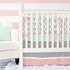Mint & Coral Arrow Crib Bumper