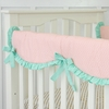 Mint & Coral Chevron Crib Rail Cover