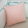 Mint & Coral Chevron Square Throw Pillow