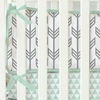 Mint & Gray Arrow Crib Bumper