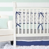 Mint & Navy Arrow Crib Bedding Set