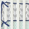 Mint & Navy Arrow Crib Bumper