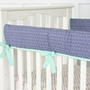 Mint & Navy Chevron Crib Rail Cover