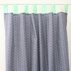 Mint & Navy Chevron Window Panels