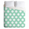 Mintiest Polka Dots Luxe Duvet Cover