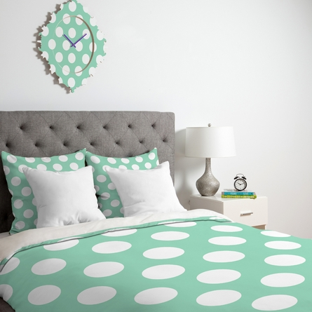 Mintiest Polka Dots Duvet Cover