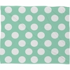 Mintiest Polka Dots Fleece Throw Blanket