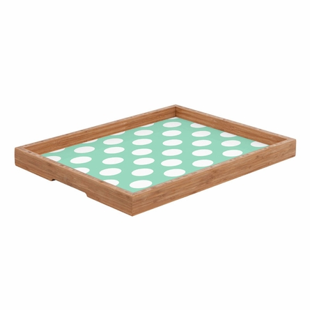 Mintiest Polka Dots Rectangle Tray