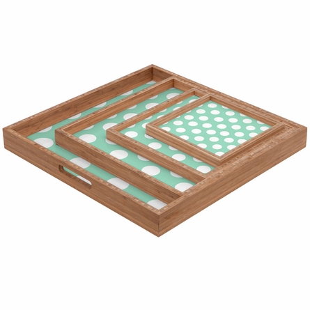 Mintiest Polka Dots Square Tray